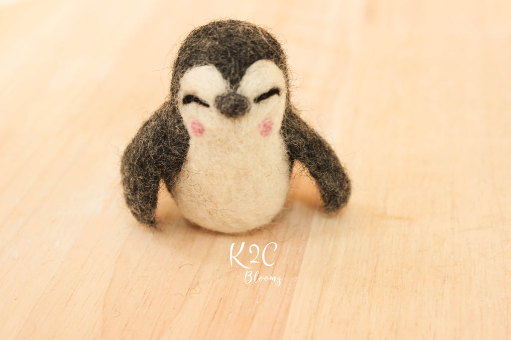 Hand felted Penguin