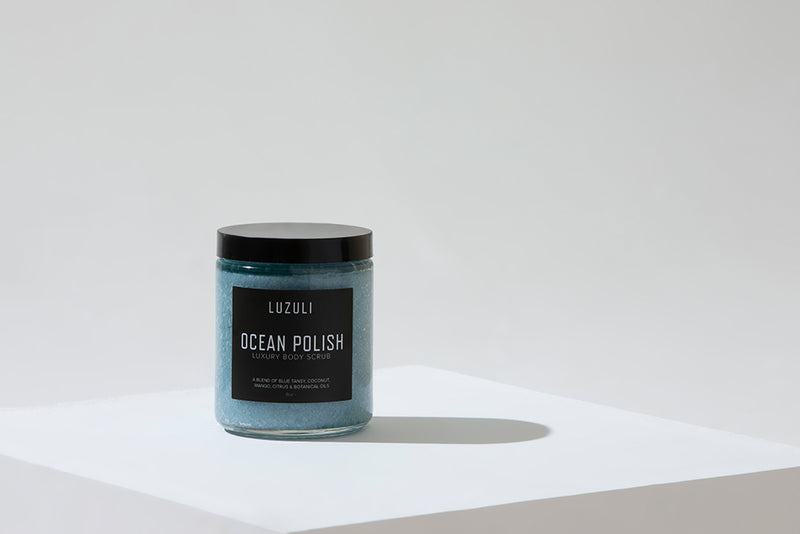 Ocean Polish | Coconut, Mango & Blue Tansy Sea Salt Body Scrub