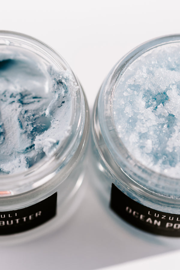 Ocean Glow Travel Duo - Vegan, Cruelty Free, Non Toxic and Organic Body Scrub and Body Balm