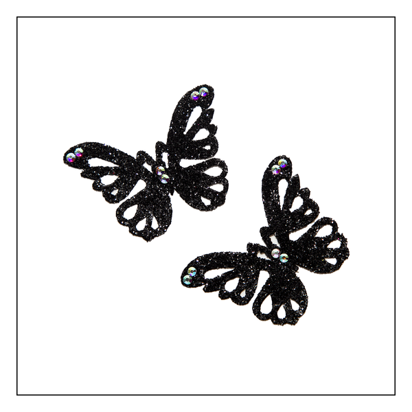 Skin Jewerly  Butterfly Black 4 - 1 pair