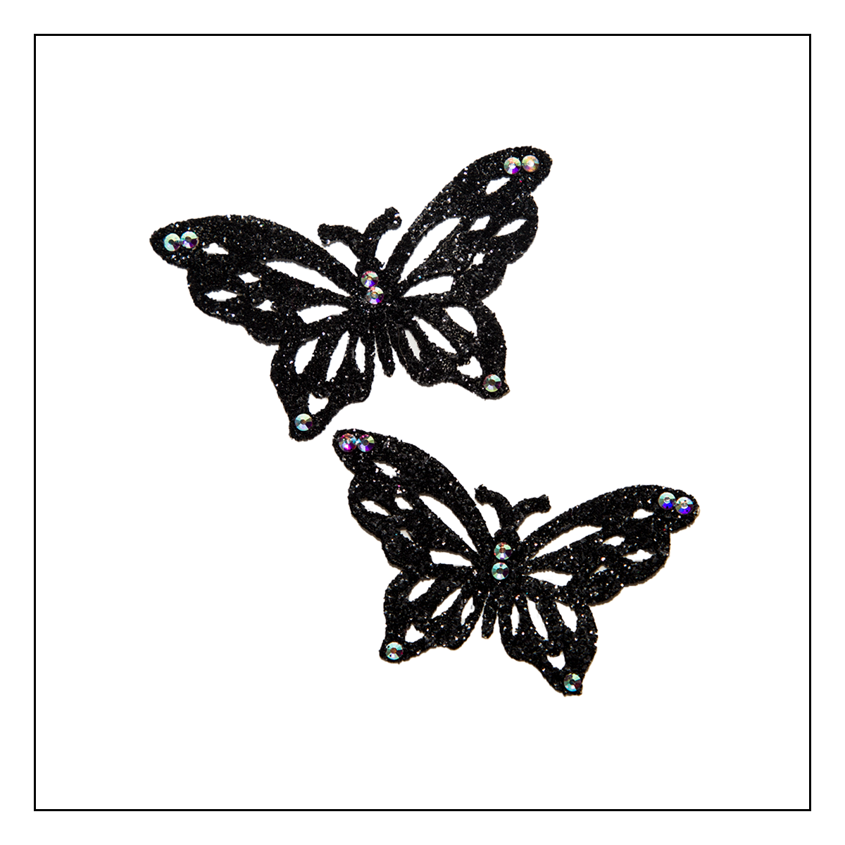 Skin Jewerly Butterfly Black 3 - 1 pair