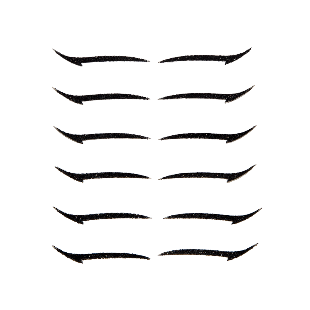 Eyeliner Sticker  BLACK BASIC - 6 pairs