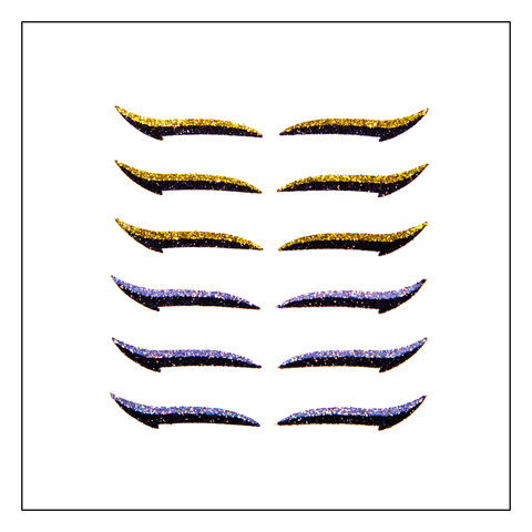 Eyeliner Sticker  CLASSIC GOLD & SILVER - 6 pairs