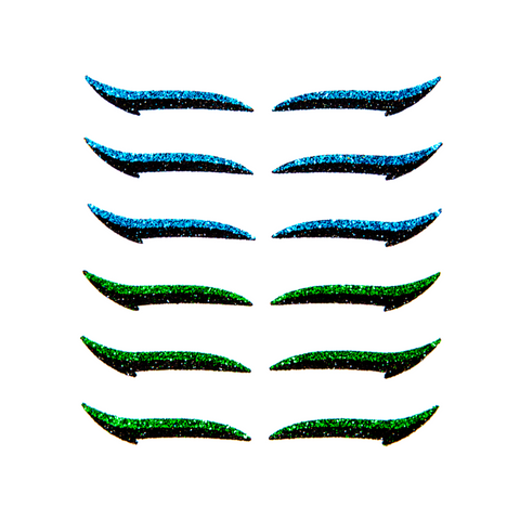 Adhesive Eyeliner CLASSIC BLUE & GREEN - 6 pairs