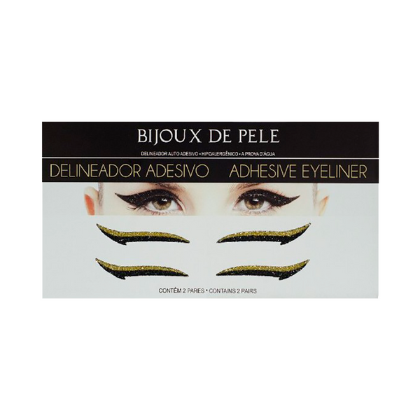 Eyeliner Sticker Black and Gold CLASSIC - 2 pairs