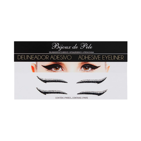 Eyeliner Sticker Black and Silver CLASSIC - 2 pairs
