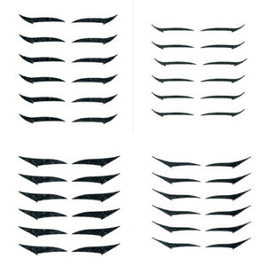 Kit 2 - Eyeliner Sticker All Black - Diferents Models - 4 packs - 24 pairs