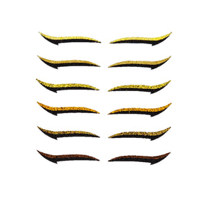 Eyeliner Sticker Shades of Gold CLASSIC - 6 pairs