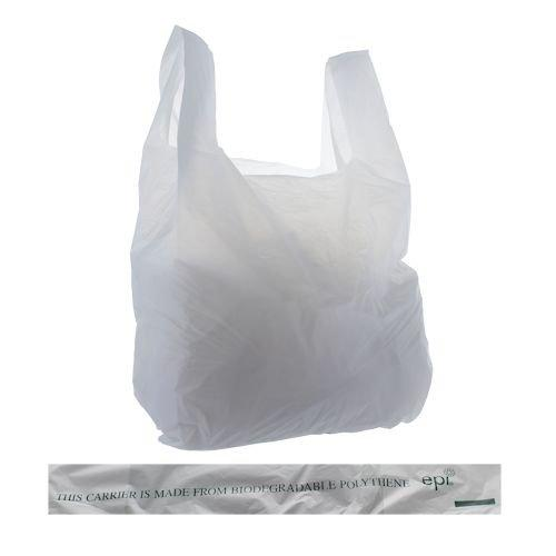1000 x Bio-Degradable Vest Carrier Bags 275x415x515mm
