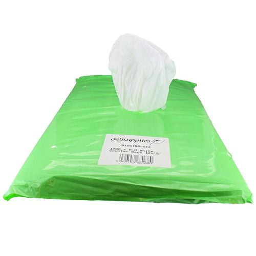 White HDPE Counter Bags 8 Micron - Various Sizes (Qty:1000)