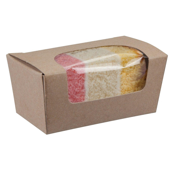 Kraft Paperboard Small Cake Box with window