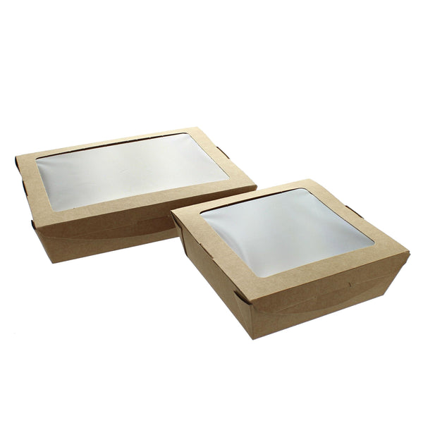 Kraft Biodegradable Salad Leak-Proof Food Carton with Window