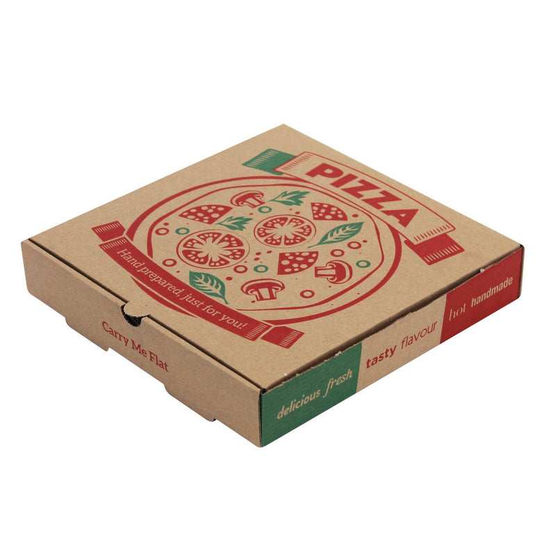 Brown Printed 2 Colour Pizza Boxes