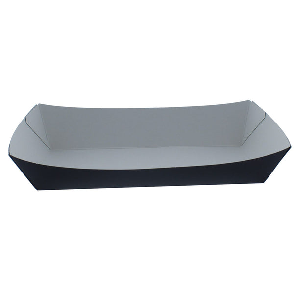 Black Cardboard Deli Supplies Food Trays, Chip, Burger, Meal & Hotdog