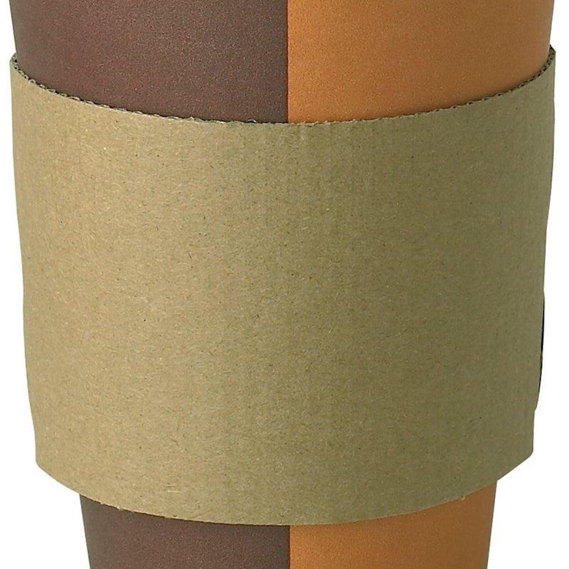 Hot Cup Sleeves - Coffee Cup Clutch - Brown