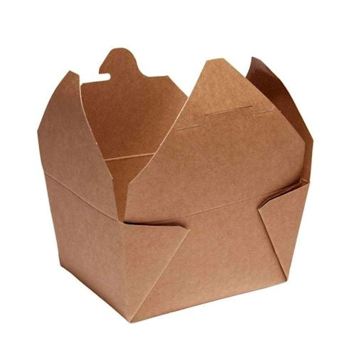 Kraft Biodegradable Leak-Proof Food Carton