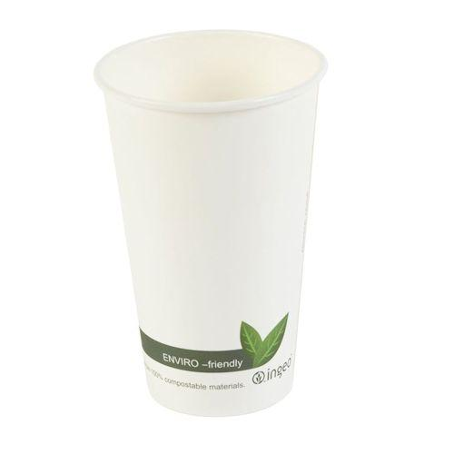 PLA Biodegradable & Compostable Hot Drink Paper Cups - Various Sizes
