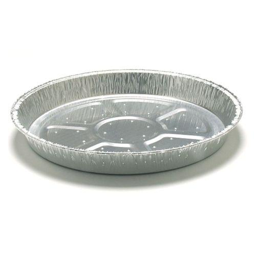 "Foil Container - 12"" Non Fluted Flan Foil Dishes / 33mm Depth - Lanced"
