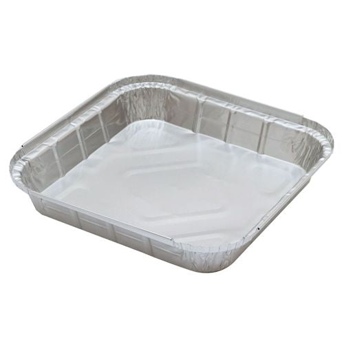 "9"" Square Foil Containers - 70WN-049-505"