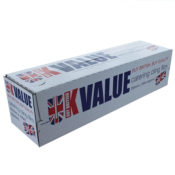 Deli Supplies UK Value Professional Catering PE Film in Cutter Box 290mm x 100m