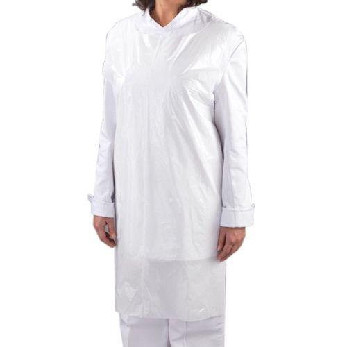 Disposable Blue or White Aprons In Flat Dispenser Pack
