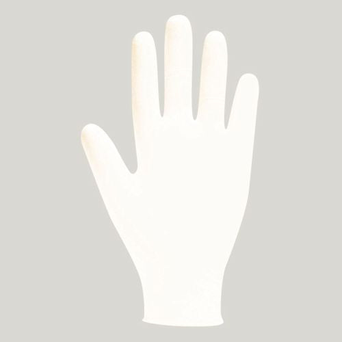 White Lightly Powdered Latex Gloves - Various Sizes