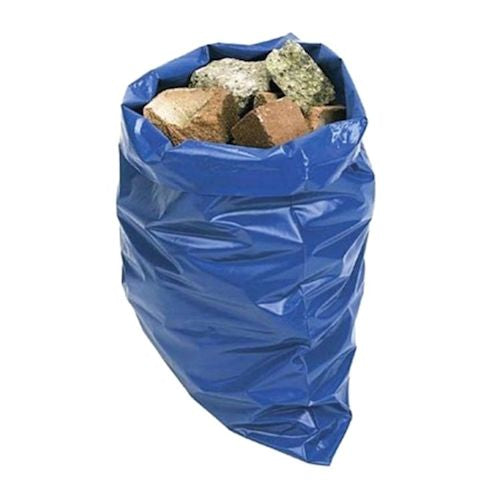 "Blue Rubble Aggregate Sacks Bin Liners - 20x30"" (500x750mm) - (Qty: 100)"