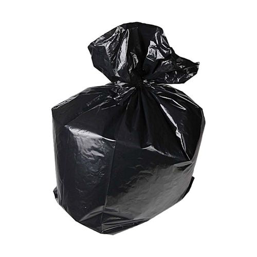 "Black Bin Liners / Refuse Sacks ZAMBESI - 18x29x38"" - 150g - (Qty: 200)"