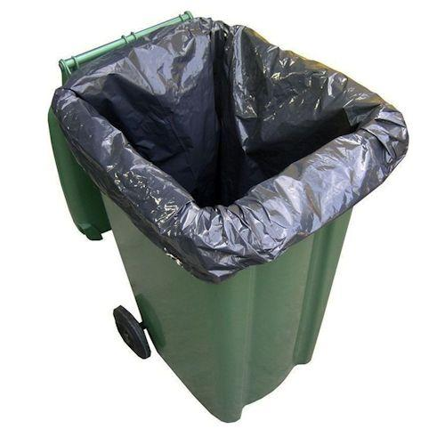 Black Wheelie Bin Liners - Standard And Heavy Duty (Qty: 100)