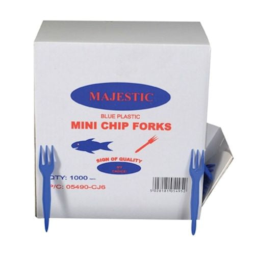 Plastic Chip Fork in Dispenser Pack (Qty: 1000)
