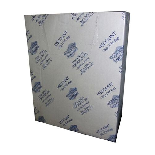Clear Polythene Food Safe Bags 200g - Various Sizes