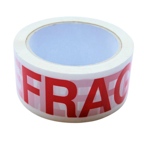 FRAGILE Printed Tape - 48x66m (Qty: 36 Rolls)