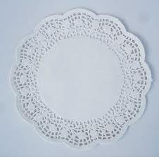 Round White Lace Paper Doyleys 16cm (6.5