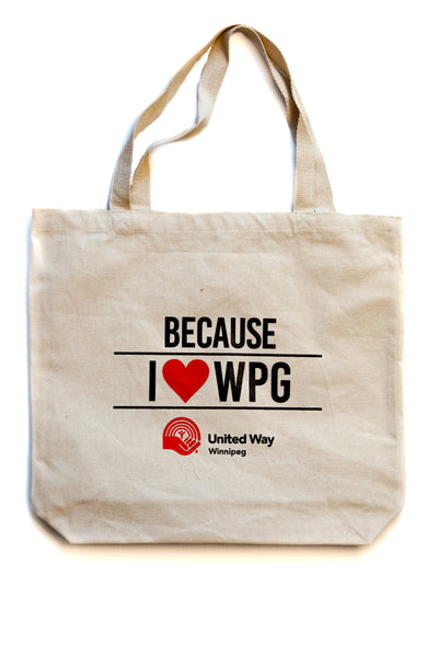 Because I Love Winnipeg Canvas Tote