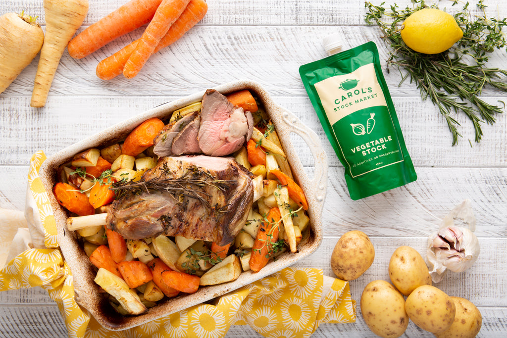 One-Pan Roast Lamb Dinner