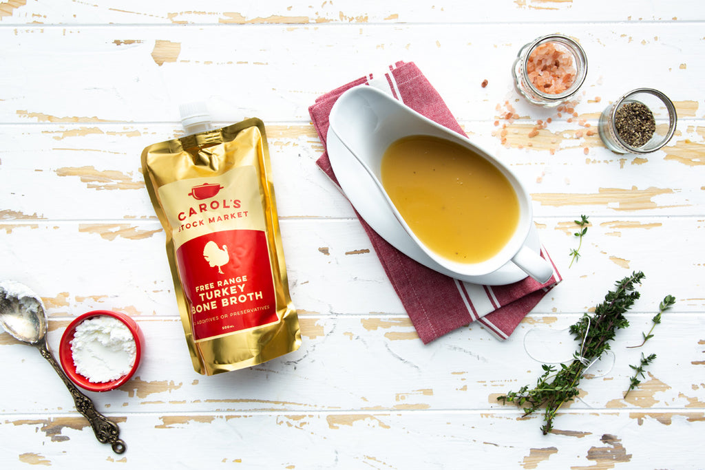 Nourishing Turkey Bone Broth Gravy