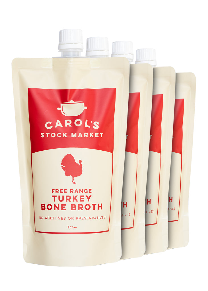 Carol's Stock Market - Turkey Bone Broth (4 Pack)
