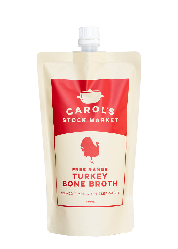 Carol's Stock Market - Free Range Turkey Bone Broth