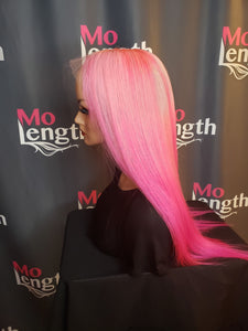 "Pink Barbie 💗 Full Lace Wig 18"" Custom Color - molength"