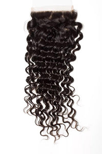 Deep Wave 5x5 Closure Natural Black