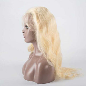 613 Blonde Body Wave Full Lace Wigs - molength