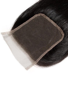 Straight 4x4 Closures Natural Black
