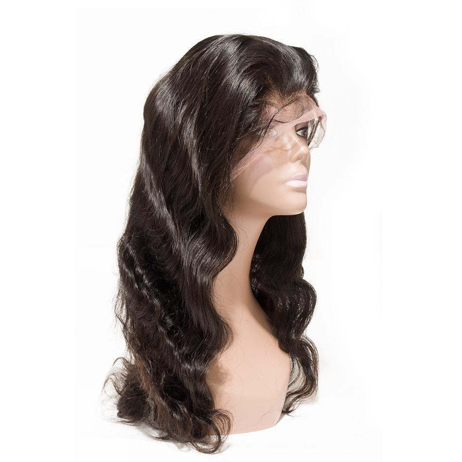 Body Wave Full lace Wigs Natural Black - molength