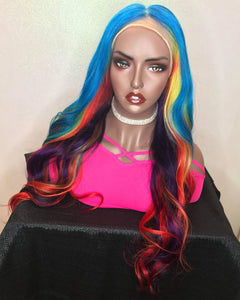 "Starburst Swril 🌈 24"" Full Lace Wig Custom Color - molength"