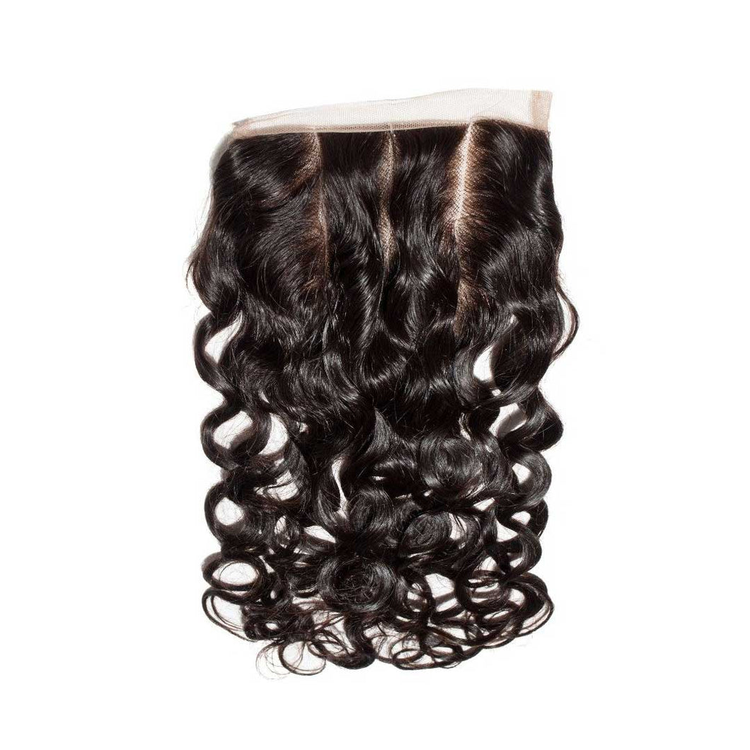 Natural Wave 5x5 Closure Natural Black - molength