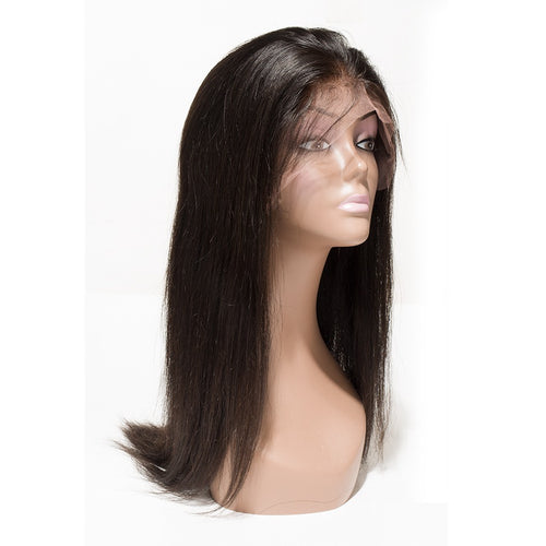 Straight Full Lace Wigs Natural Black - molength
