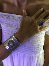 Load image into Gallery viewer, Silver Cuff Bracelet with Lapis Lazuli from Morocco
