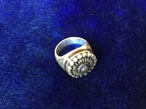 Silver Ring with Protective 'Eye'.