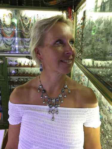 Fancy Moroccan Silver Necklace