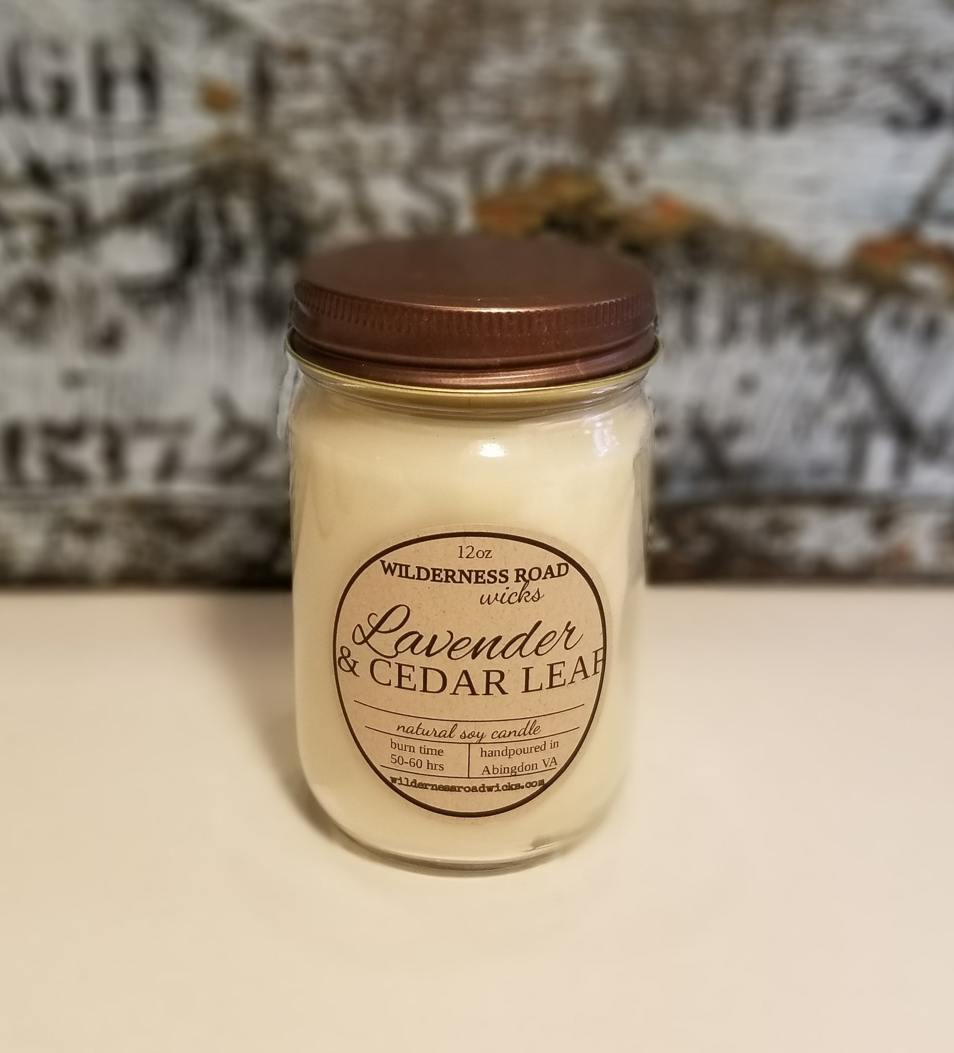 Lavender & Cedar Leaf 12 oz. Natural Soy Candle